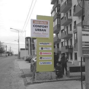 Panou publicitar totem Confort Urban